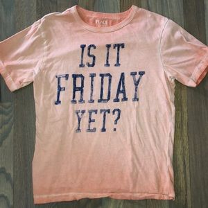 """5/$25 🔴 Boys' """"Is It Friday Yet"""" Graphic Tee M"""